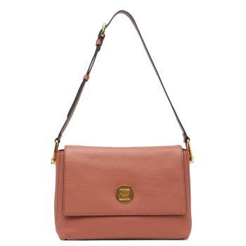 COCCINELLE Liya Line – Medium Cinnamon Leather Shoulder Bag for Her