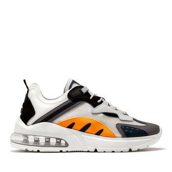 D.A.T.E. Aura Otter Line – White Orange Sneakers
