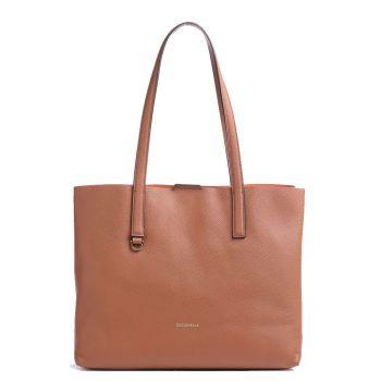 COCCINELLE Matinee Line – Cinnamon Chestnut Leather Shoulder Bag for Her
