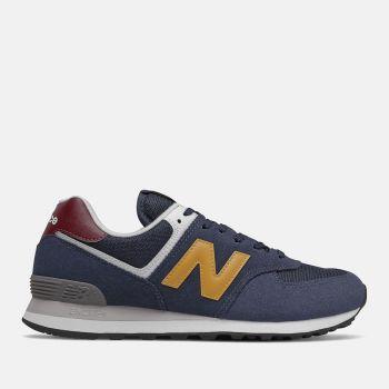 NEW BALANCE 574 Line – Natural Indigo e Aspen Suede Fabric Sneakers for Him