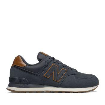 NEW BALANCE 574 Line – Nabuck Dark Navy Sneakers For Him