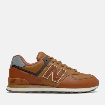 NEW BALANCE 574 Line – Nabuck Cognac Sneakers for Him