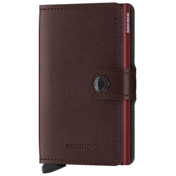 Miniwallet SECRID Metallic line Dark Genuine Leather with RFID