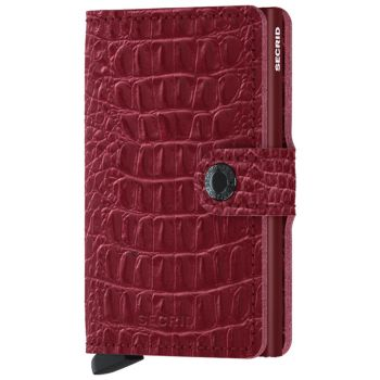 SECRID Nile Line Ruby leather Card Holder with RFID