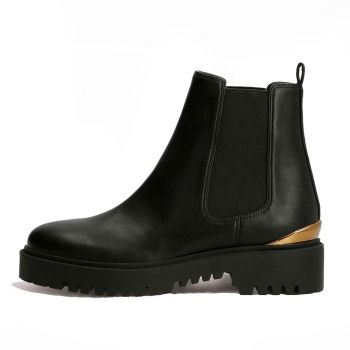 GUESS Olet Line – Black Chelsea Boots for Women