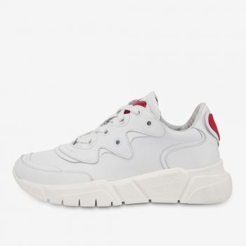 LOVE MOSCHINO White Leather Sneakers
