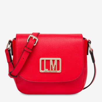 LOVE MOSCHINO Shoulder Bag with Red LM Logo JC4144