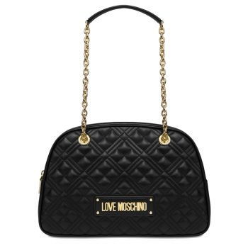 LOVE MOSCHINO Black Boston Bag with Quilted Effect