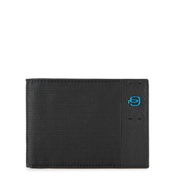 Мужской бумажник Piquadro с портмоне из кожи Chevron - черный PU257P16