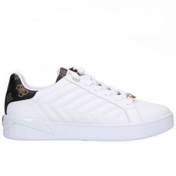 GUESS Racheel Line – White Brown Leather Sneakers for Women