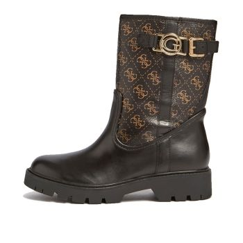 GUESS Radlyn Line – Brown Multi Ankle Boots with Buckle Detail