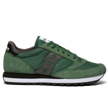 SAUCONY Jazz Original Line – Green Grey Leather Sneakers for Him