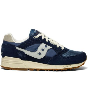 SAUCONY Shadow 5000 Vintage Line – Blue Leather Sneakers for Him