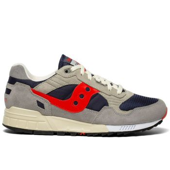 Saucony Shadow 5000 Vintage Line – Navy Red Suede Fabric Sneakers for Him