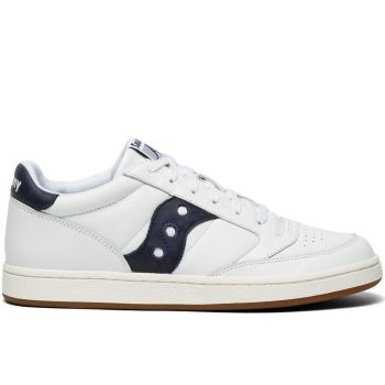 SAUCONY Jazz Court Line – White Navy Leather Sneakers for Him