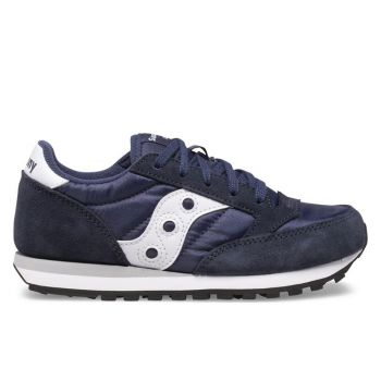 Saucony Jazz Original Line – Navy White Leather Fabric Sneakers for Kids