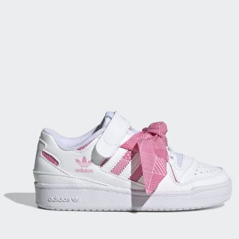 ADIDAS Forum Low Line – White Sneakers with Pink Pois Bow