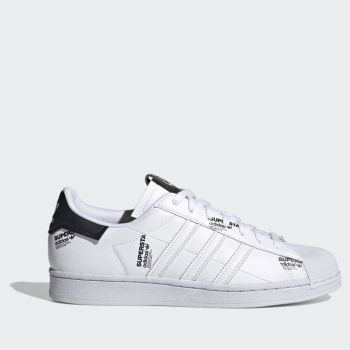 ADIDAS Superstar Line – White Black Sneakers with Lateral Derails for Men