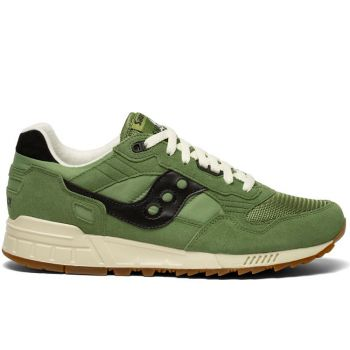 Saucony Shadow 5000 Vintage Line – Green Suede Fabric Sneakers for Him