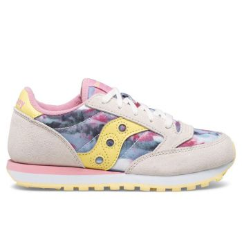 Saucony Jazz Original Line – White Pink Multi Leather Sneakers for Kids