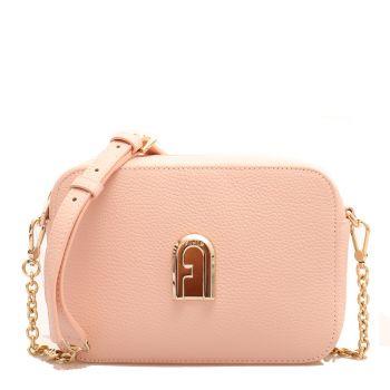 Furla 1927 Sleek –  Mini Candy Rose Leather Shoulder Bag