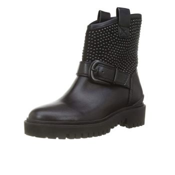 GUESS Orican Line – Black Ankle Boots With Lateral Studs
