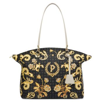 POLLINI Heritage Queen For A Day Line – Black Ivory Tote Bag