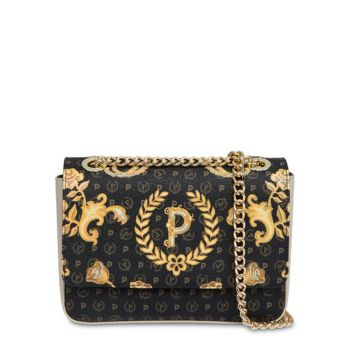 POLLINI Heritage Queen For A Day Line – Black Ivory Crossbody Bag TE8413