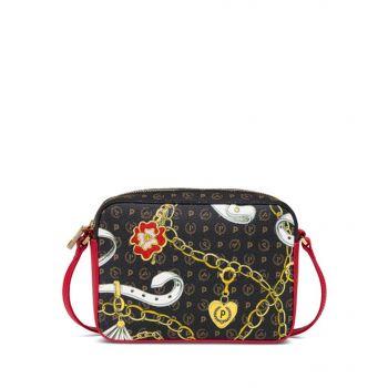POLLINI Heritage Preppy Club Line – Printed Crossbody Bag with Laky Details
