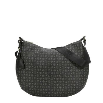 POLLINI Heritage Line – Printed Black Hobo Bag for Her