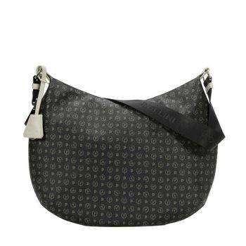 POLLINI Heritage Line – Black Ivory Leather Hobo Bag TE8420PP04Q1100C