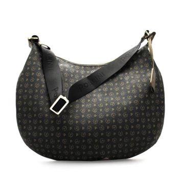 POLLINI Heritage Line – Black Bronze Leather Hobo Bag TE8420PP04Q1100G