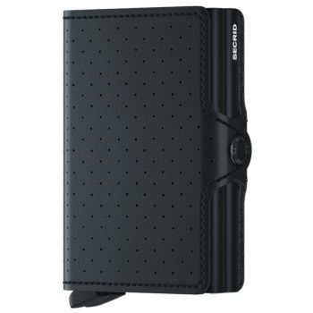 SECRID Twinwallet Perforated Black Leather with RFID