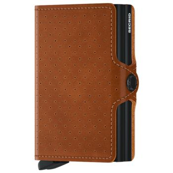 SECRID Twinwallet Perforated Cognac Leather with RFID