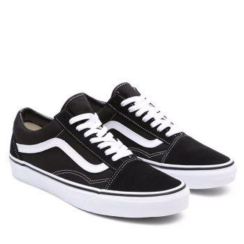 VANS Old Skool Line – Unisex Black White Suede Sneakers