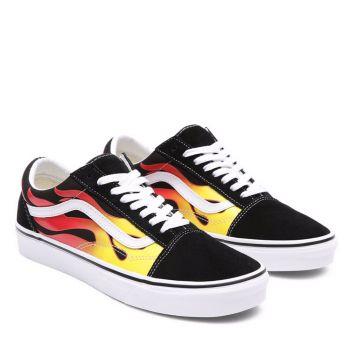 VANS Old Skool Line – Unisex Suede Sneakers with Flame Print