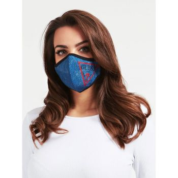 GUESS Unisex Denim Blue Mask