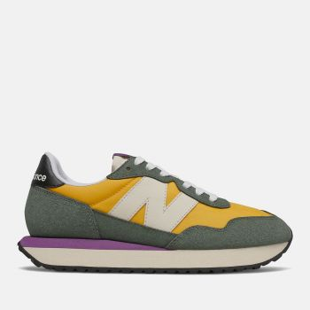 NEW BALANCE 237 Line – Team Gold Suede Mesh Nylon Sneakers for Women