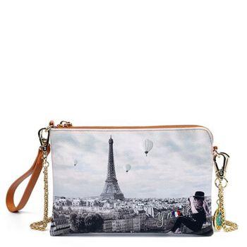Y NOT YES-384 Line – Ciel De Paris Print Pouch with Shoulder Strap