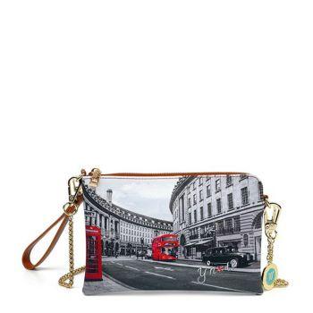 Y NOT YES-384 Line – Shoulder Bag with London Regent Street Print for Women