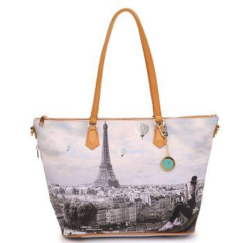 Y NOT YES-397 Line – Tote Bag with Ciel de Paris Print