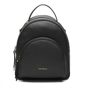 COCCINELLE Lea Line – Black Leather Backpack