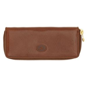THE BRIDGE Story Line – Brown Leather Zipper Key Case Made in Italy