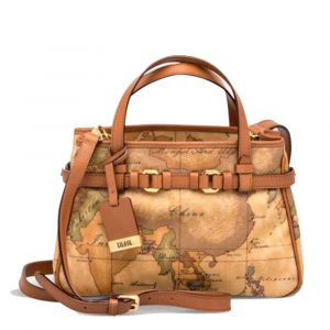 1A Classe Alviero Martini Geo Classic Line – Handle Bag with Shoulder Strap D032 Made in Italy