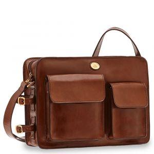 THE BRIDGE Brown Leather Messenger Bag Story Line