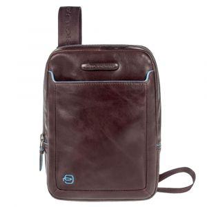 Мужская сумка через плечо для iPad Mini - PIQUADRO Линия Blue Square CA3084B2 из кожи красного дерева