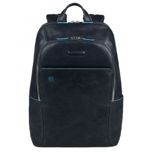 """PIQUADRO B2s Line – Blue Leather Backpack with IPAD®AIR-IPAD PRO 9.7/IPAD 11"""" Compartment CA3214B2S"""