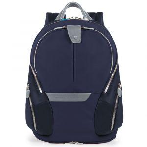 Расширяемый рюкзак PIQUADRO для ноутбука с диагональю 13,3 дюйма - линия Coleos, кожа и ткань синего цвета CA3936OS