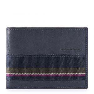 Мужской бумажник PIQUADRO из синей кожи - PU1241B3SR с защитой RFID
