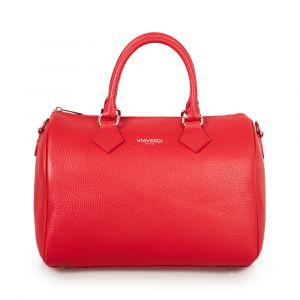 Женская сумка-мешок из красной кожи VIA VERDI. Made in Italy.